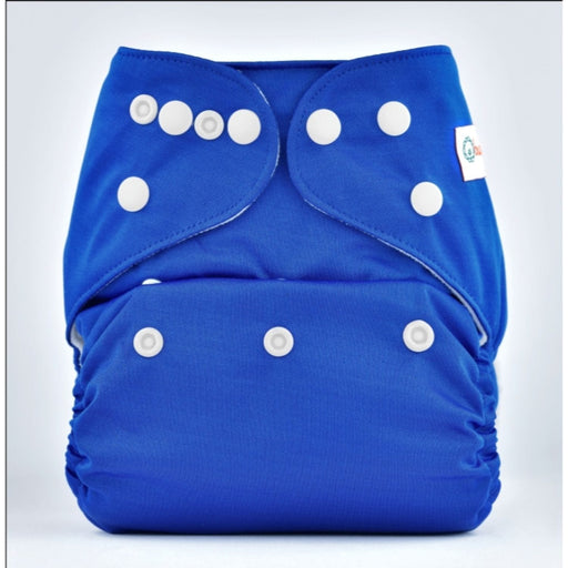 The Nestery: Bumberry - Pocket Diaper - Deep Blue + 1 Microfiber Insert