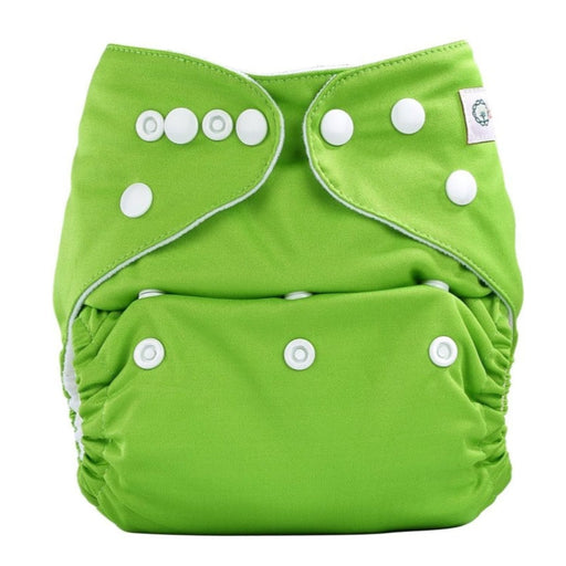The Nestery: Bumberry - Pocket Diaper - Deep Green + 1 Microfiber Insert