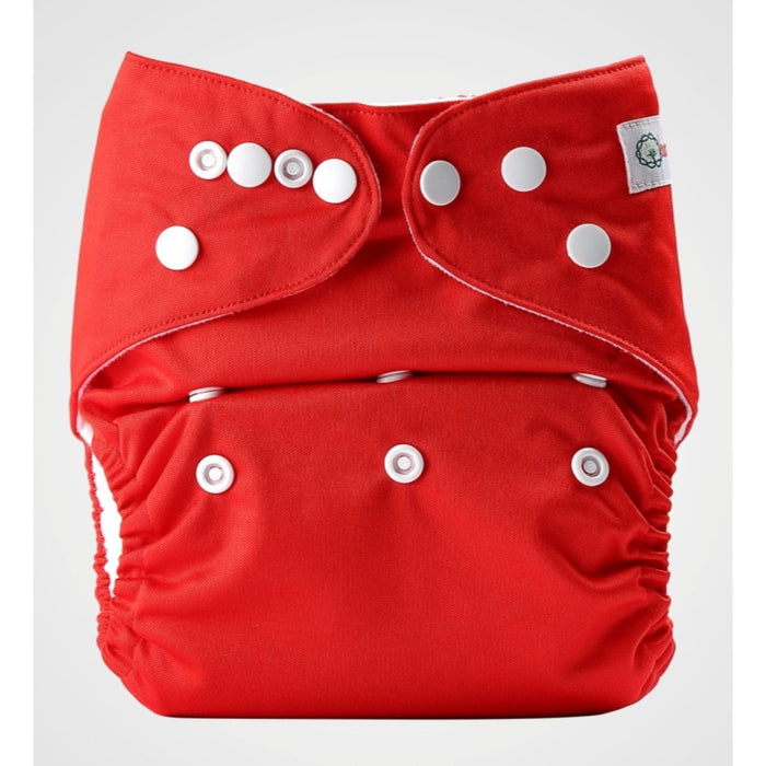 The Nestery: Bumberry - Pocket Diaper - Deep Red + 1 Microfiber Insert