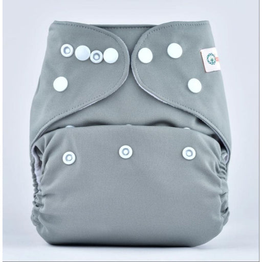 The Nestery: Bumberry - Pocket Diaper - Grey + 1 Microfiber Insert
