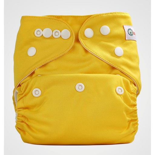 The Nestery: Bumberry - Pocket Diaper - Highlight Yellow + 1 Microfiber Insert