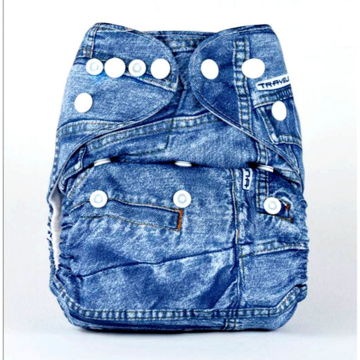 The Nestery: Bumberry - Pocket Diaper - Jeans + 1 Microfiber Insert