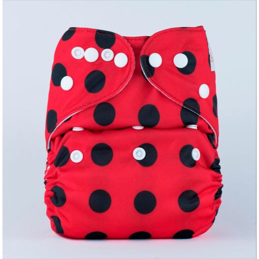 The Nestery: Bumberry - Pocket Diaper - Lady Bug + 1 Microfiber Insert