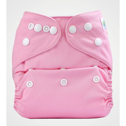 The Nestery: Bumberry - Pocket Diaper - Pink + 1 Microfiber Insert