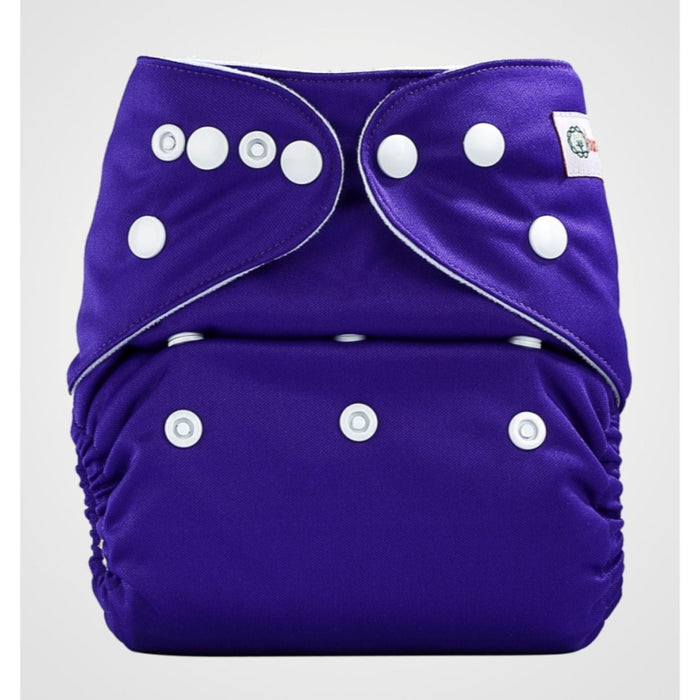 The Nestery: Bumberry - Pocket Diaper - Purple + 1 Microfiber Insert