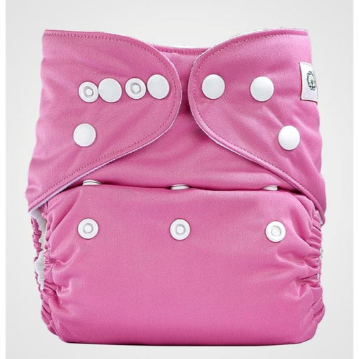 The Nestery: Bumberry - Pocket Diaper - Raddish Pink + 1 Microfiber Insert