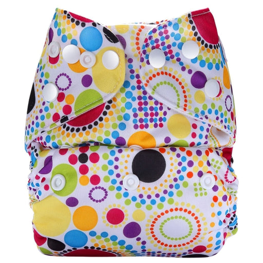 The Nestery: Bumberry - Pocket Diaper - Retro Print + 1 Microfiber Insert