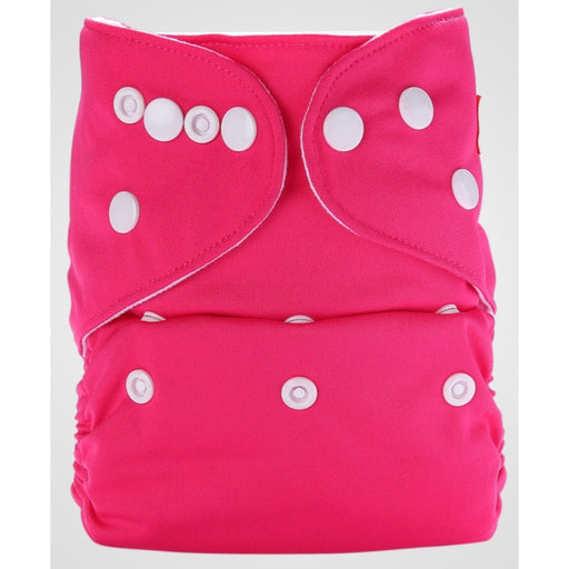 The Nestery: Bumberry - Pocket Diaper - Rose Pink + 1 Microfiber Insert