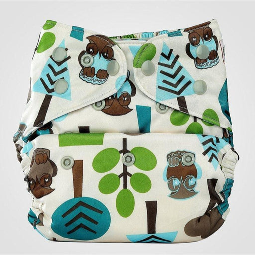 The Nestery: Bumberry - Pocket Diaper - Trees + 1 Microfiber Insert