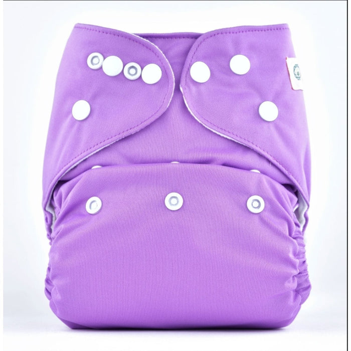 The Nestery: Bumberry - Pocket Diaper - Violet + 1 Microfiber Insert