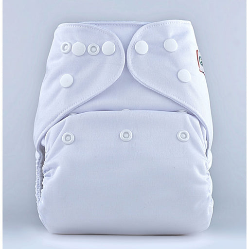 The Nestery: Bumberry - Pocket Diaper - White + 1 Microfiber Insert