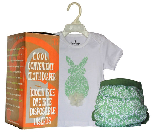 The Nestery: Bumchum - Bdiaper Hybrid Cover + T Shirt With Disposable Insert - Bonnie