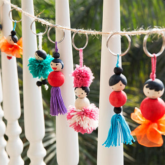 The Nestery: Chalk & Chuckles - KEYCHAIN DOLLS