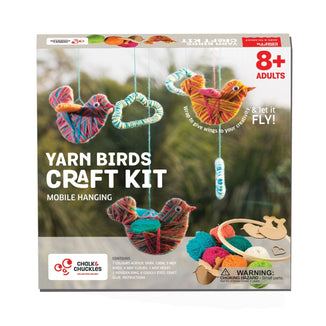The Nestery: Chalk & Chuckles - YARN BIRDS BABY MOBILE