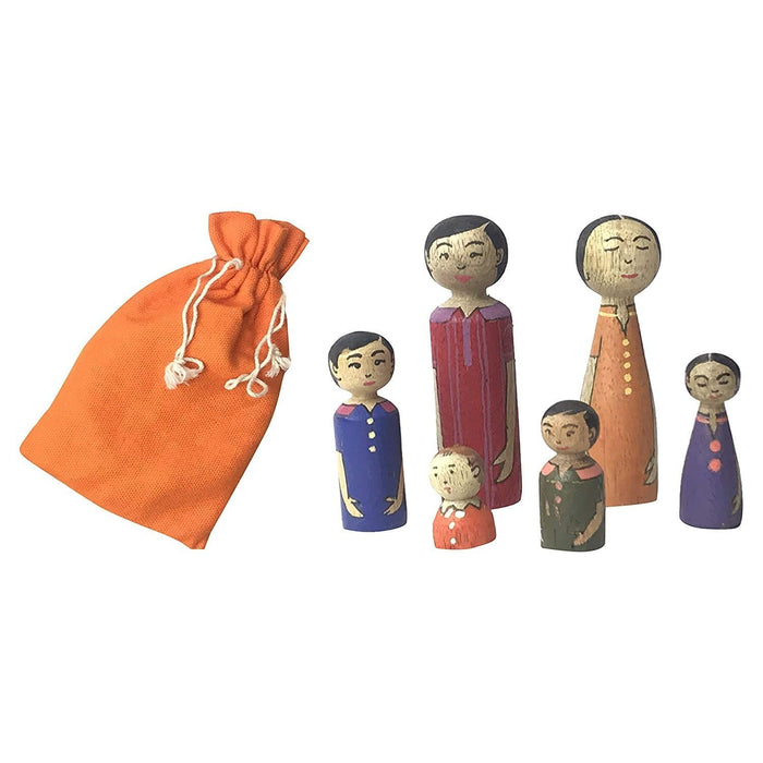 The Nestery : Chaya Nisarga - Peg Dolls (Coloured)