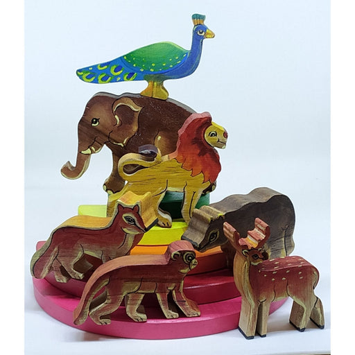 The Nestery : Chaya Nisarga - Jungle Animals (Coloured - 7 Piece)