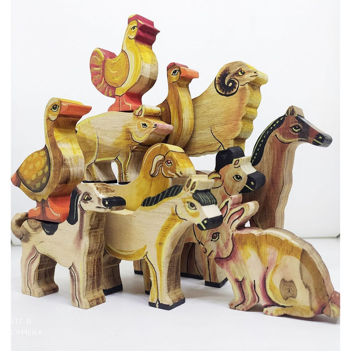 The Nestery : Chaya Nisarga - Farm Animals (Coloured - 11 Pieces)