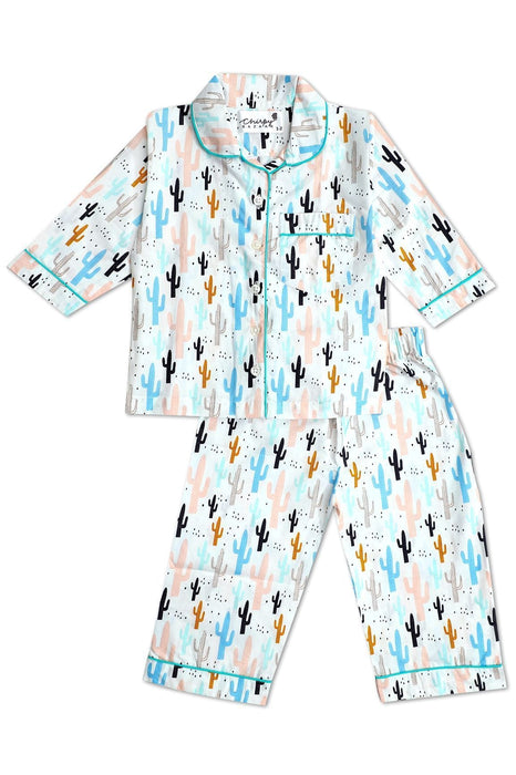 The Nestery: Chirpy Bazaar - Nightsuit - Cactus Print