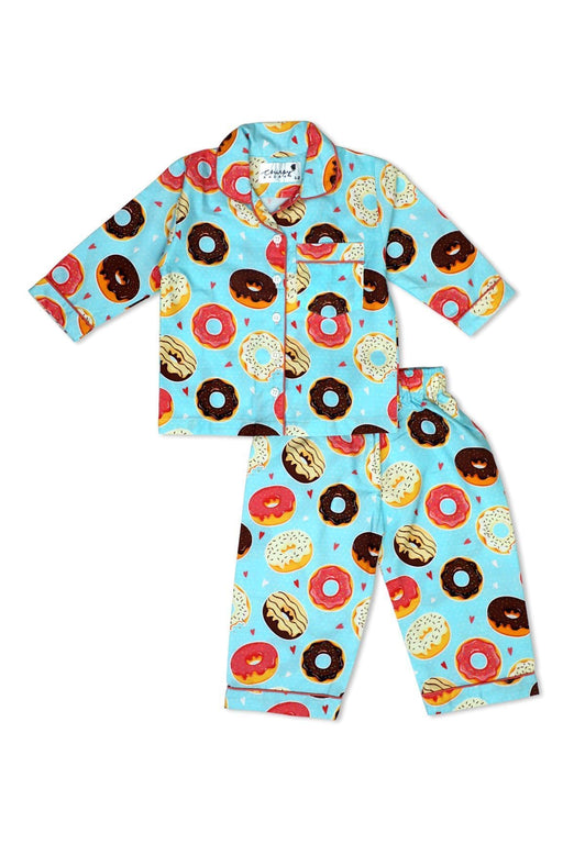 The Nestery: Chirpy Bazaar - Nightsuit - Donuts With Colorful Glazing