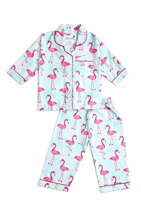 The Nestery: Chirpy Bazaar - Nightsuit - Flamingo Birds
