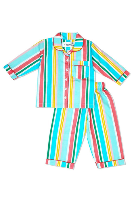 The Nestery: Chirpy Bazaar - Nightsuit - Fun Stripes