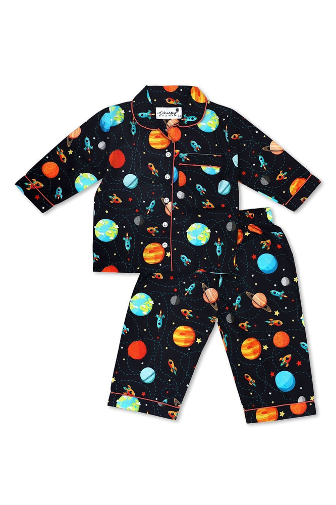 The Nestery: Chirpy Bazaar - Nightsuit - Space Pattern