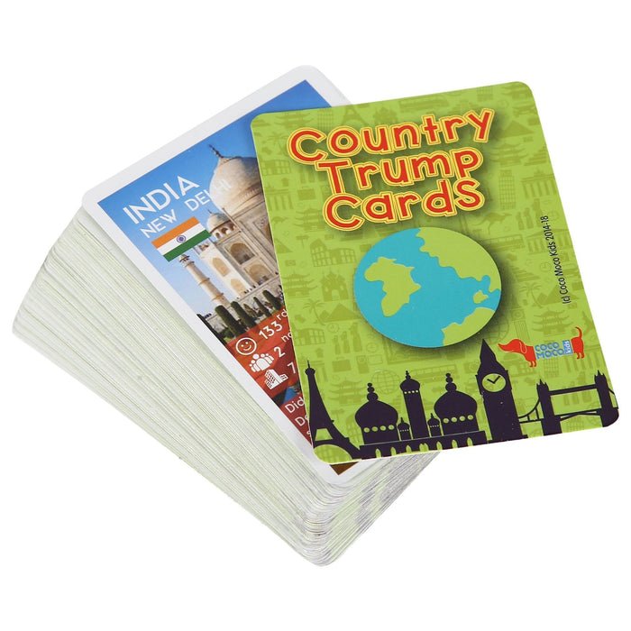 The Nestery: Cocomoco Kids - COMBO OF 5 - COUNTRY TRUMP CARDS (GEOGRAPHY EDUCATIONAL GAME)