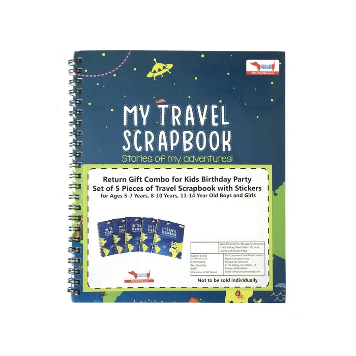 Pack Of 5 - My Travel Scrapbook With Stickers (Activity Kit)