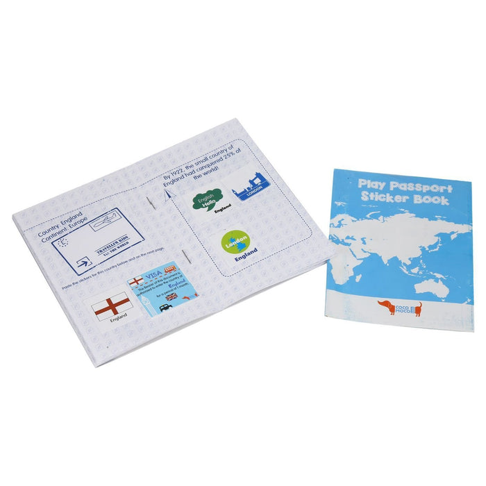The Nestery: Cocomoco Kids - COMBO OF 5 - PLAY PASSPORT WITH STICKERS (ACTIVITY KIT)