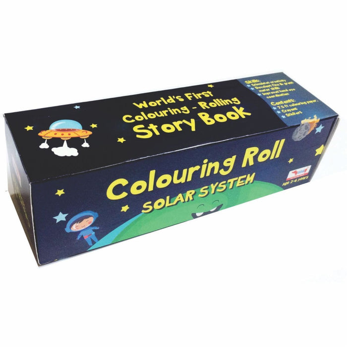 The Nestery: Cocomoco Kids - COMBO OF 5 - COLOURING ROLL (SOLAR SYSTEM)
