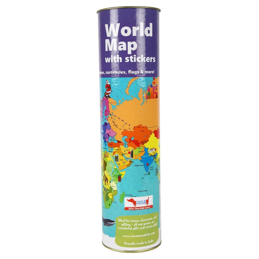 The Nestery: Cocomoco Kids - COMBO OF 5 - INTERACTIVE WORLD MAP WITH STICKERS (ACTIVITY KIT)