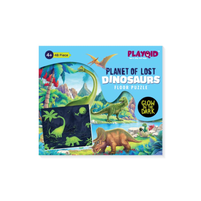 The Nestery : Playqid - Planet Of Lost Dinosaurs - Glow In The Dark Puzzle