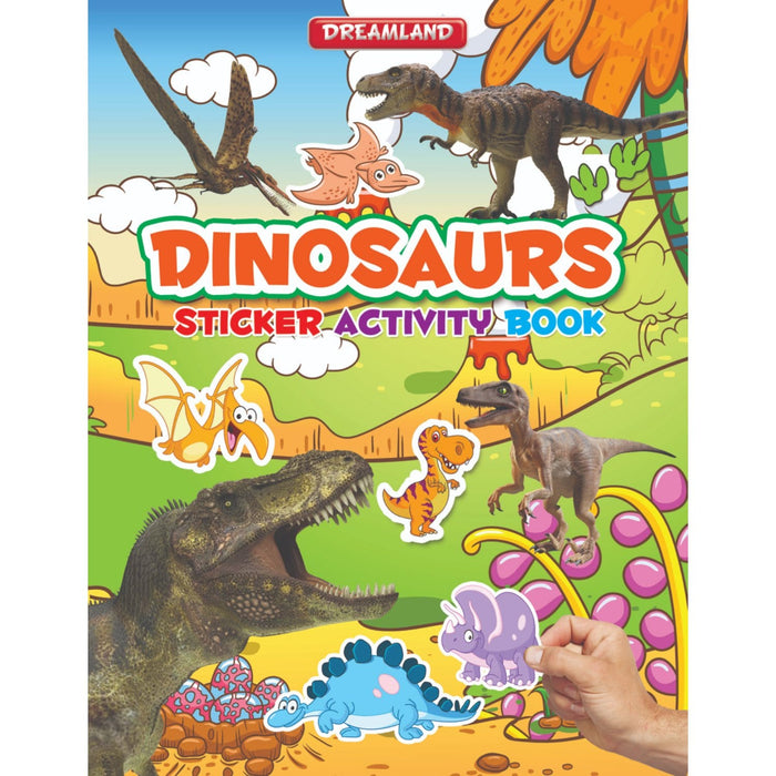 The Nestery : Dreamland Publications - Sticker Activity Book - Dinosaurs