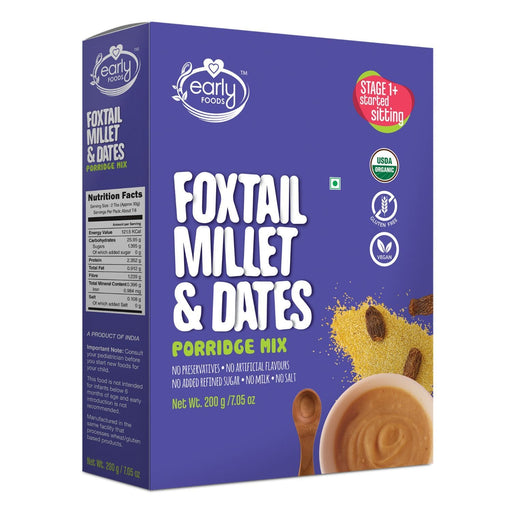 The Nestery : Early Foods - Porridge Mix - Organic Foxtail Millet And Dates - [200 Gms]