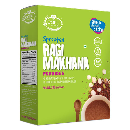 The Nestery : Early Foods - Porridge Mix - Sprouted Ragi And Makhana - [200 Gms]
