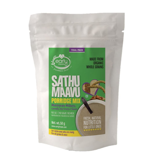The Nestery: Early Foods - Trial Packs - Organic Sattu Maavu Multi-Grain Porridge - [50 Gms]