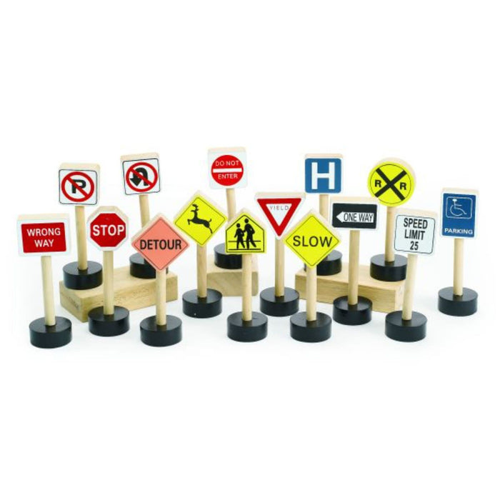 Colorations Block Play Traffic Signs - Set Of 15