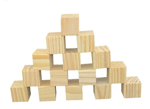 PLAIN WOODEN BLOCKS - 5CM CUBES