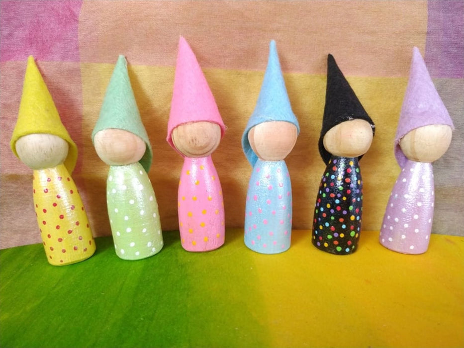 The Nestery: Endow Toys - Sparkle Peg Dolls