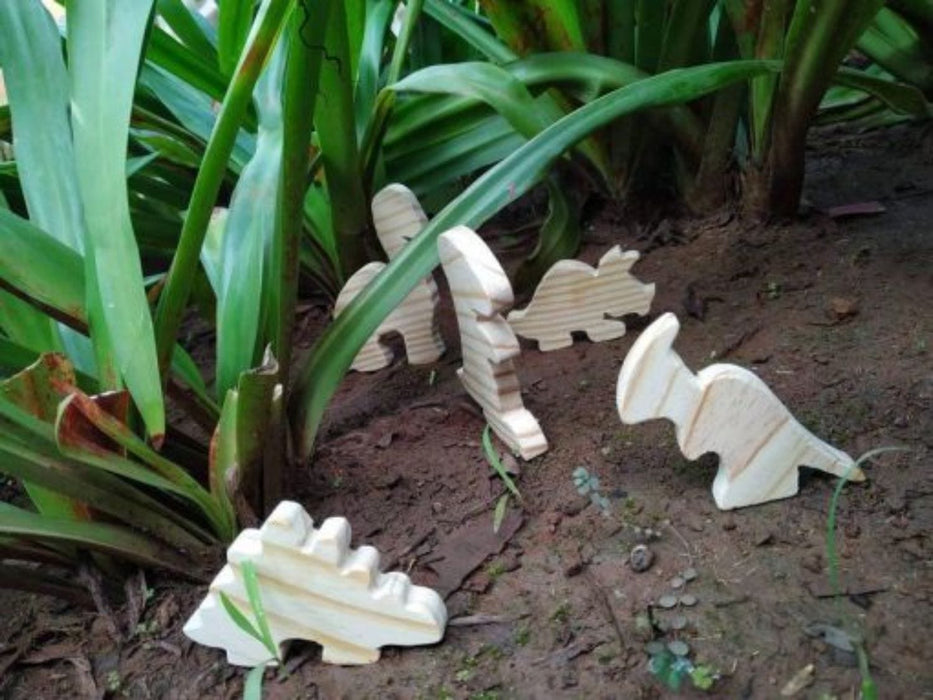 The Nestery: Endow Toys - Wooden Dinosuar Set