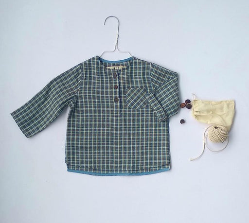 The Nestery: Essika Kids - Handloom Shirt - Brown Checks