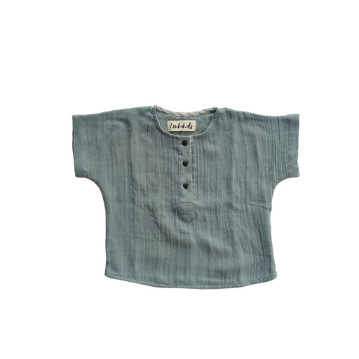 The Nestery : Essika - Organic Cotton Tea Time Shirt - Tinsel Grey