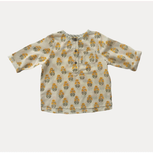 The Nestery : Essika-Shirt - Yellow Block Print
