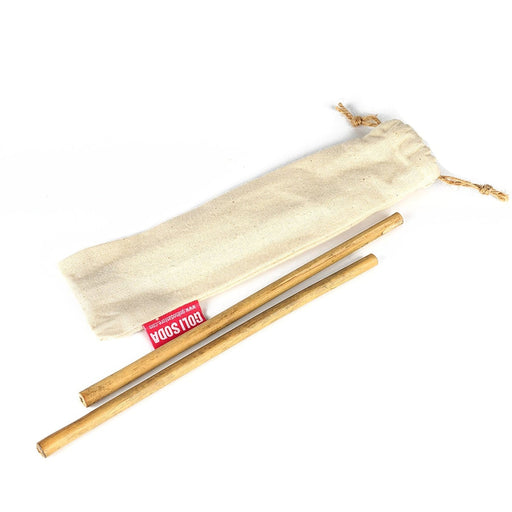The Nestery : Goli Soda Store - Bamboo Straws + Easy Carry Pouch (Set Of 2)