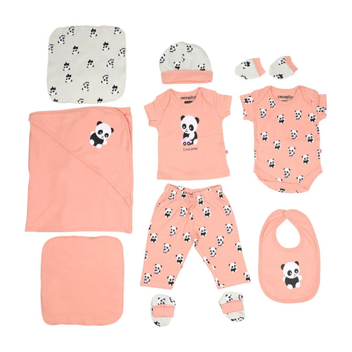 The Nestery : Greendigo Organic Clothing - Panda Love - Newborn Set
