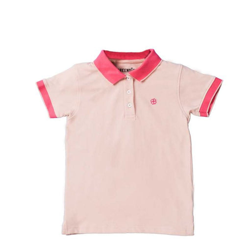 The Nestery : Greendigo Polo Tshirt With Half Sleeves Blush