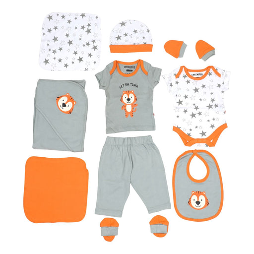 The Nestery : Greendigo Organic Clothing - Roaring Tiger - Newborn Set