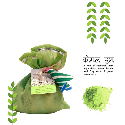 The Nestery : Gulmeher - Holi Natural Colour Earth Pack - Komal Hara (100Gm)