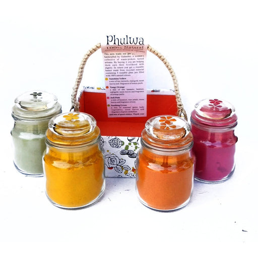 The Nestery : Gulmeher - Holi Natural Colour - Gift Basket (4X50Gms)