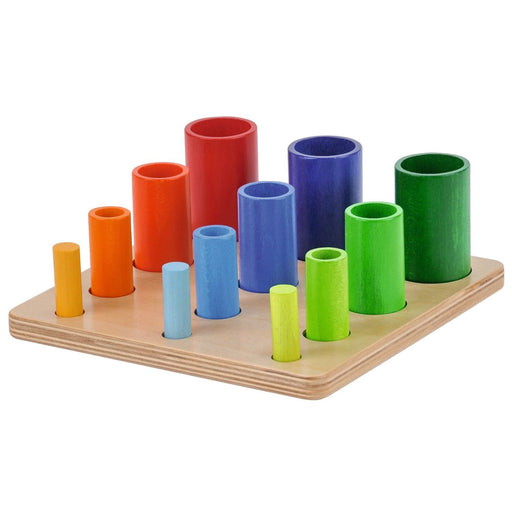 The Nestery: Haba Toys - Coloured Stacking Towers